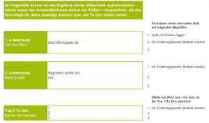 Antworten 1+2 bzw. ToDos-Definition mit automatischen Vorschlägen